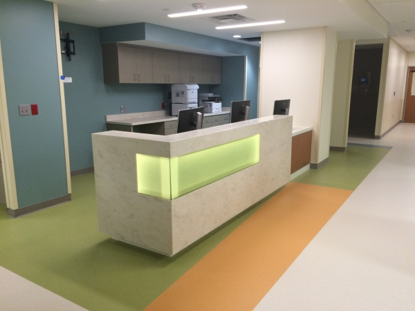 Toledo Hospital Commercial Solid Surface Fabricator