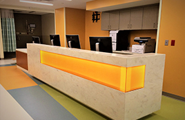 Learn More About Innovative Surface Works of Michigan - reception-desk